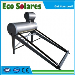 Color Steel Non-pressure Solar Water Heater with top horizatonal assistant tank