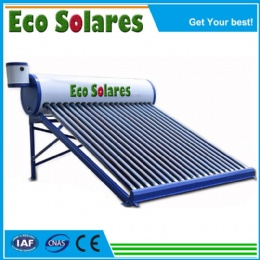 Color Steel Non-pressure Solar Water Heater with side mounted assistant tank
