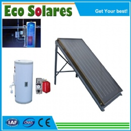 Split-Pressurized solar water heater with Flat Plate Solar Collector